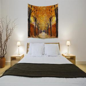 The Autumn Leaves 3D Digital Printing Home Wall Hanging Nature Art Fabric Tapestry for Bedroom Living Room Decorations -