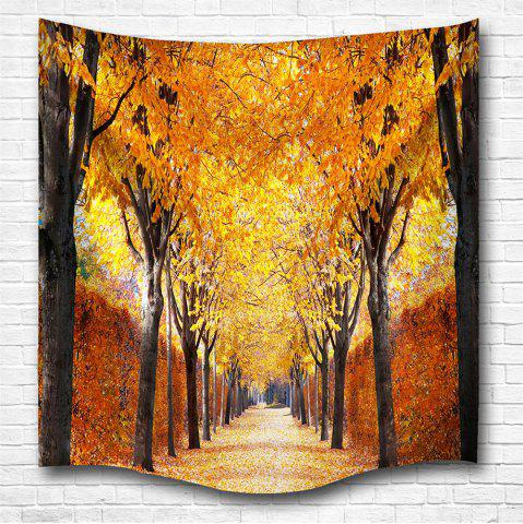 Discount The Autumn Leaves 3D Digital Printing Home Wall Hanging Nature Art Fabric Tapestry for Bedroom Living Room Decorations