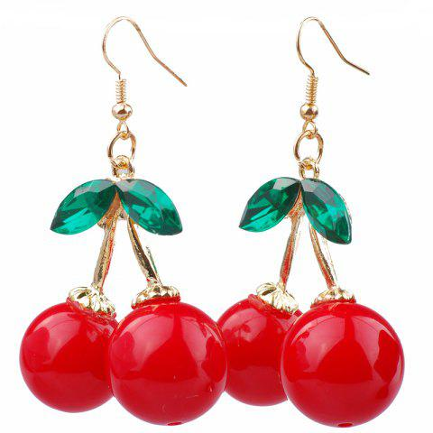 Chic Fashion Red Cherry Shape Female Jewelry Elegant Earrings Gift Girl