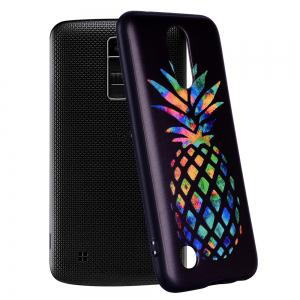 For LG K10 2017 European Color Pineapple Pattern Soft TPU Phone Case -