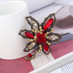 Popular Creativity Abstract with Flower Brooch -