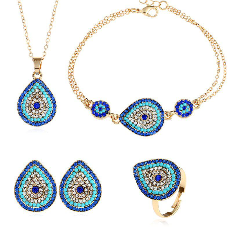Outfits New Fashion Necklace Bracelet with Four Pieces of Jewelry