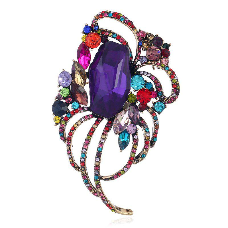 Trendy Popular Creative Line Goddess Hollowed-Out Brooch