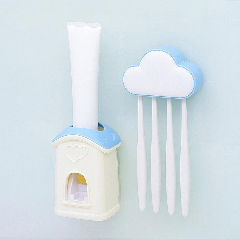 Online Cloud Cottage Creative Automatic Toothpaste Cartoon Toothbrush Holder Set