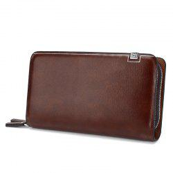 Casual Double Zipper Long Clutch Bag Male -