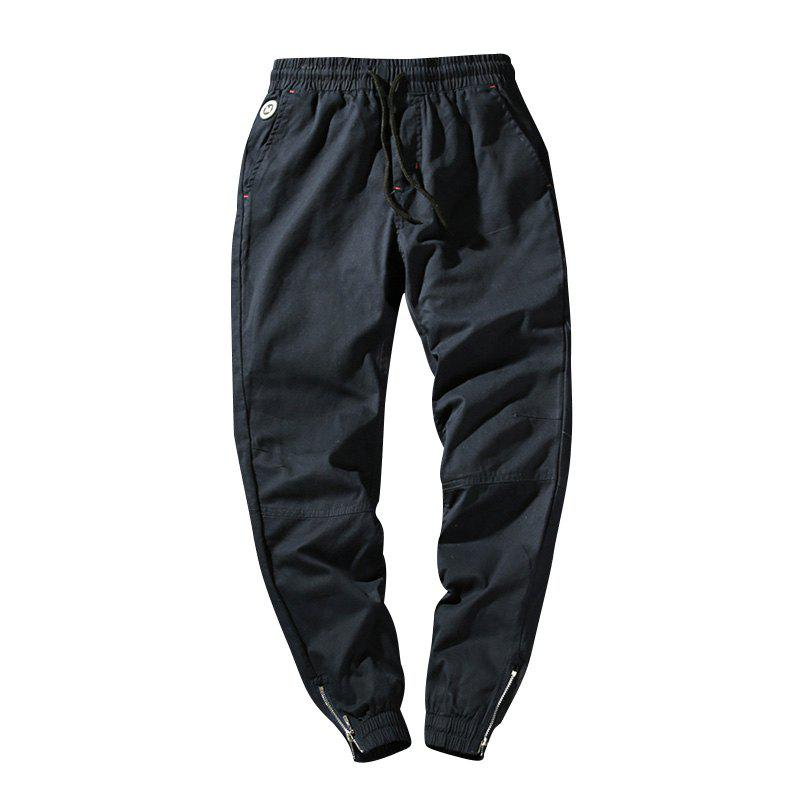 Cheap Men's Casual  Zipper Pants
