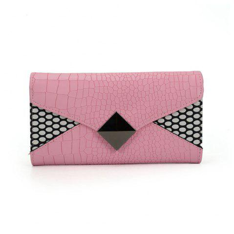 Fashion Women's Wallet Solid Color Short Pattern Letter Decor Chic Stylish Bag