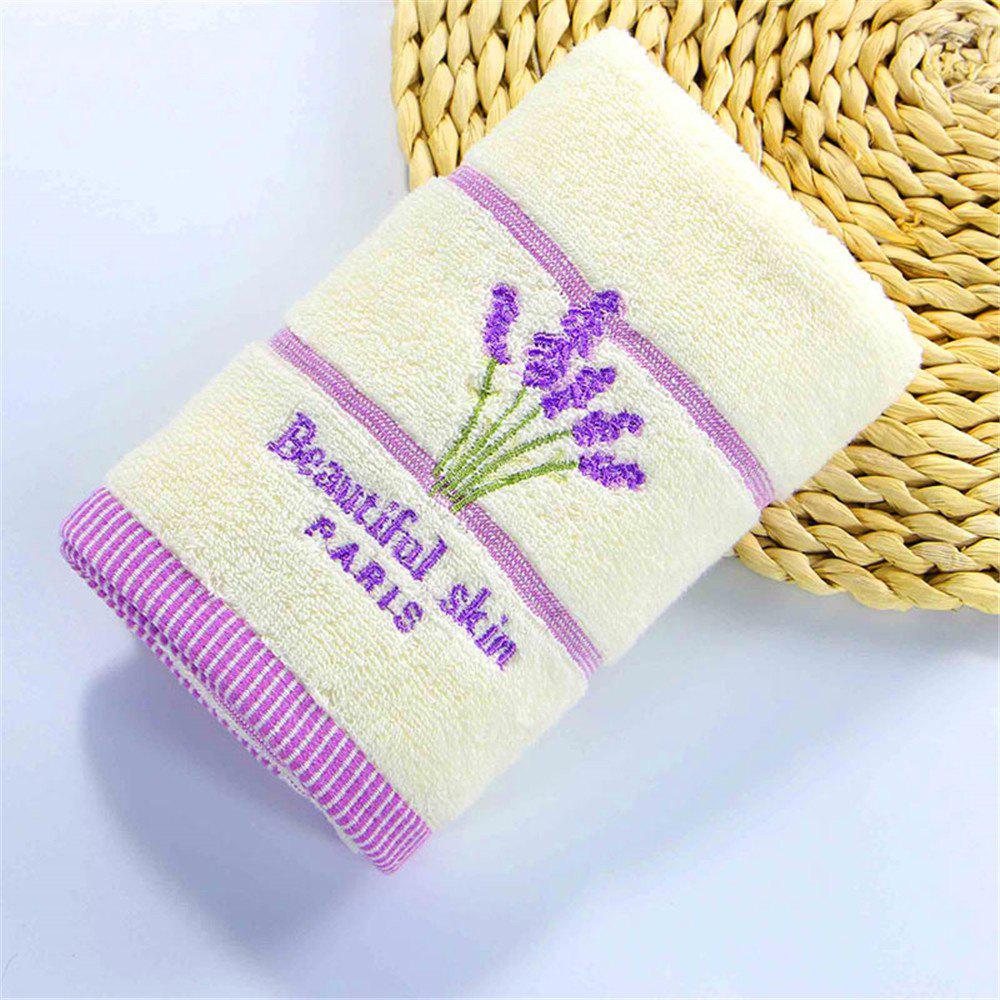 Discount Muchun Weaving Lavender Pattern Soft Nature Cotton Rectangle Shower Bath Towel