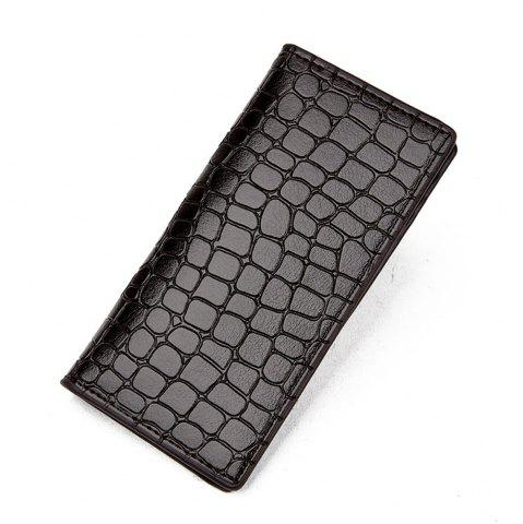 Online Men's Wallet Casual Durable Solid Color Long Style Purse