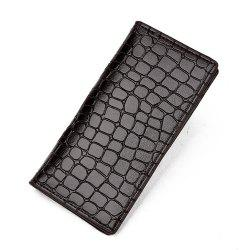 Men's Wallet Casual Durable Solid Color Long Style Purse -
