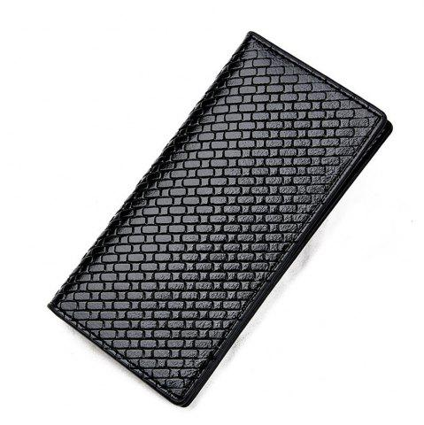 Store Men's Wallet Waterproof Simple Style Solid Color PU Purse