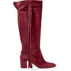 2018 New Fashion Wine Red High Boots -
