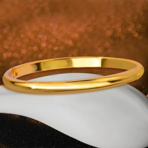 New Design Chunky Fashion Bangle 18k Gold Plated Jewelry Bracelets Birthday Gift BR70094 -