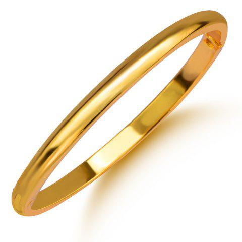 Latest New Design Chunky Fashion Bangle 18k Gold Plated Jewelry Bracelets Birthday Gift BR70094