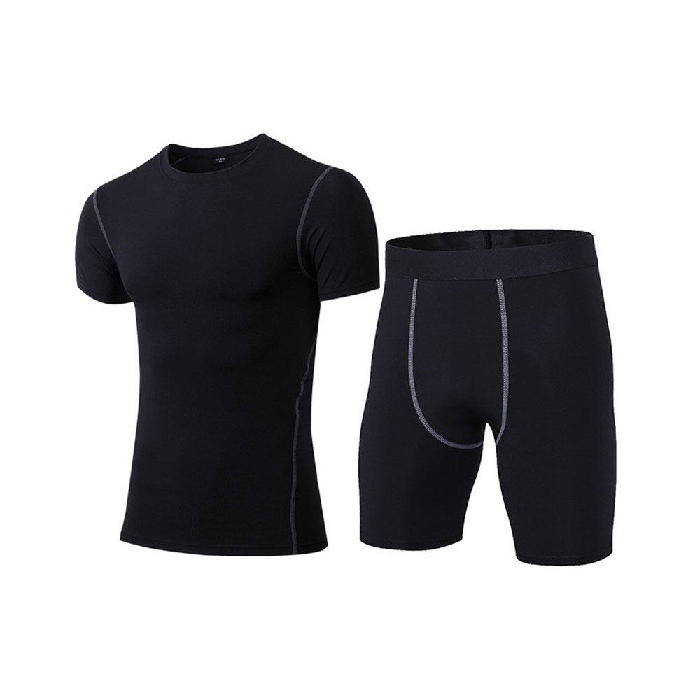 Chic Men's Fitness Set Sweat-Drying T-Shirt and Shorts Suit