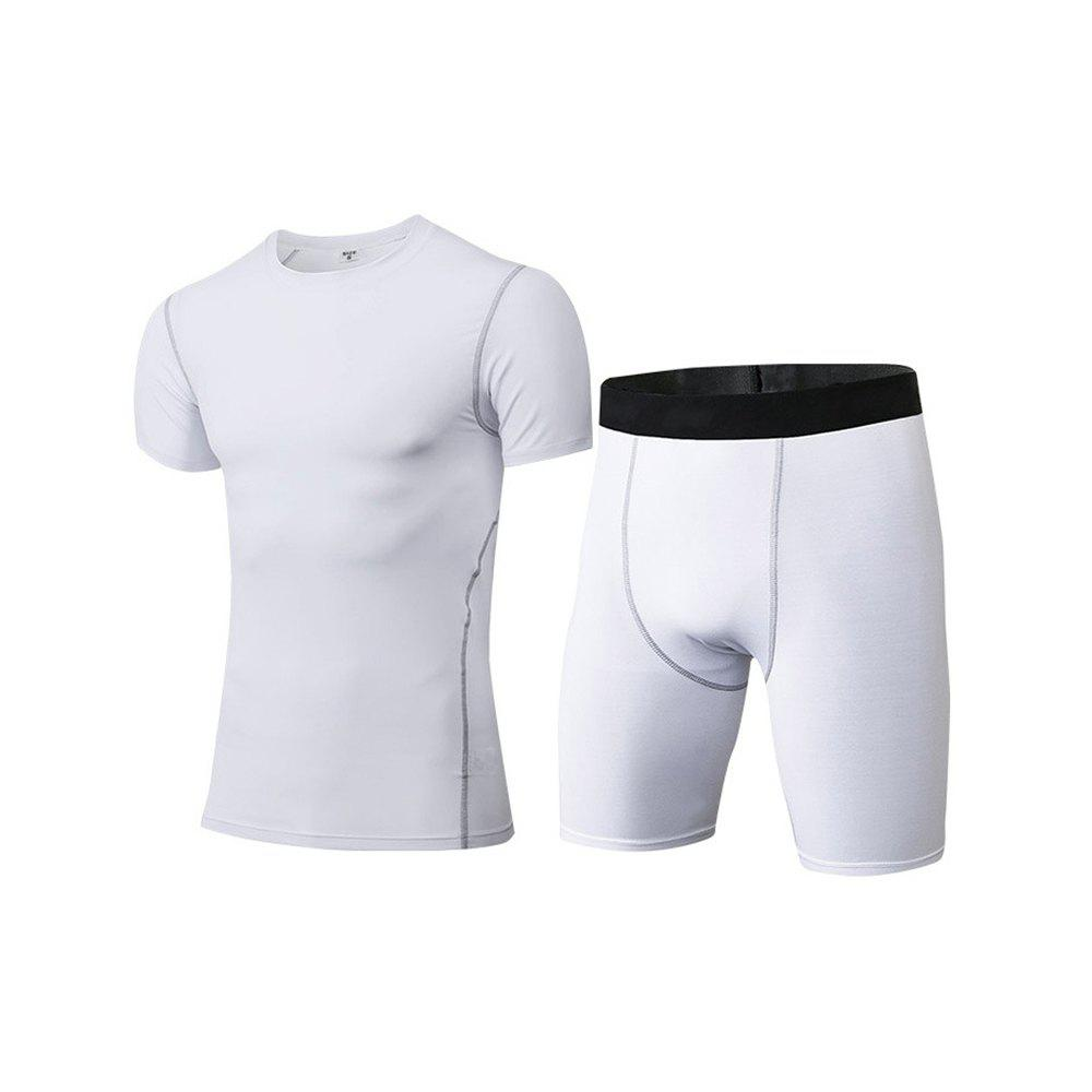 Shops Men's Fitness Set Sweat-Drying T-Shirt and Shorts Suit