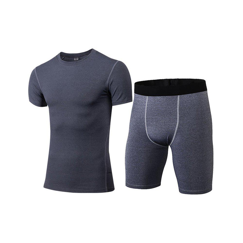 Sale Men's Fitness Set Sweat-Drying T-Shirt and Shorts Suit