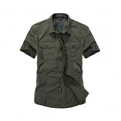 Outfit Men's Large Size Shirt Short Sleeve