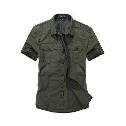 Men's Large Size Shirt Short Sleeve -