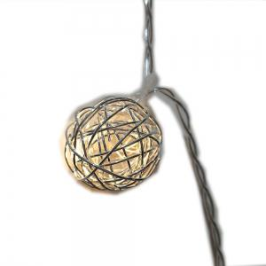 Rose Gold Iron Wire Ball String Lights Fairy LED Home Decor Light Home Garden of Battery Powered 1.65M 10 LED -