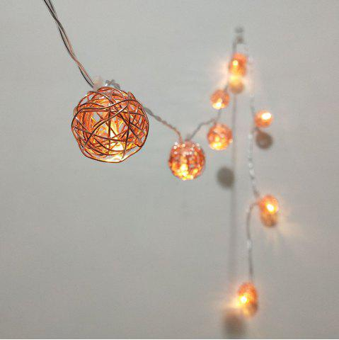 Outfits Rose Gold Iron Wire Ball String Lights Fairy LED Home Decor Light Home Garden of Battery Powered 1.65M 10 LED