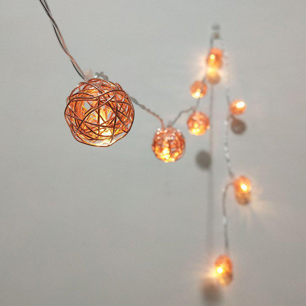 2018 Rose Gold Iron Wire Ball String Lights Fairy Led Home Decor ...