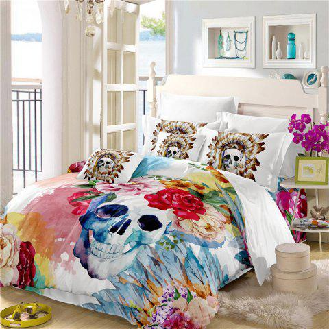 Best Painted Pattern Tribal Skeleton Chieftain Series Bedding Set Three or Four Pieces AS17