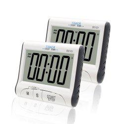 2pcs Magnetic LCD Digital Kitchen Timer Count Down Egg Cooking Alarm Clock -
