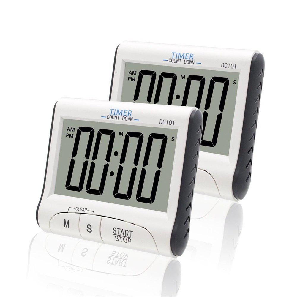 Buy 2pcs Magnetic LCD Digital Kitchen Timer Count Down Egg Cooking Alarm  Clock