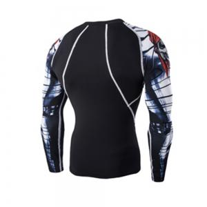 Digital Printing Fitness Quick-Drying Long-sleeved T-shirt -