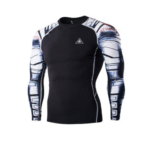 Fashion Digital Printing Fitness Quick-Drying Long-sleeved T-shirt
