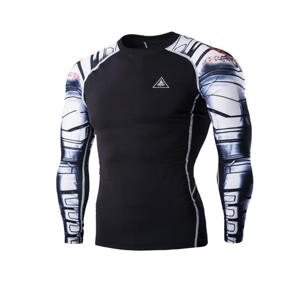 Outfits Digital Printing Fitness Quick-Drying Long-sleeved T-shirt
