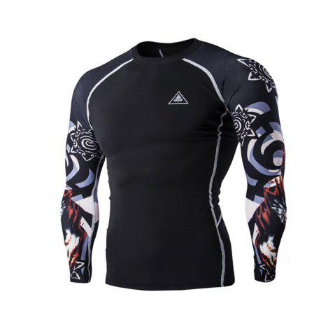 Outfit Digital Printing Fitness Long-sleeved T-shirt