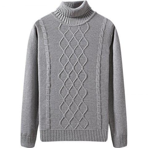 Fancy Men's Winter Long Sleeved Turtleneck Sweater