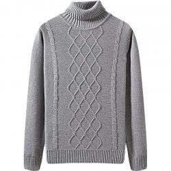 Men's Winter Long Sleeved Turtleneck Sweater -