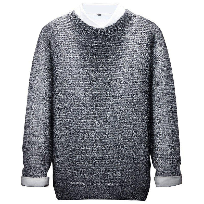 New Long Sleeved Round Collar Warm Leisure Sweater
