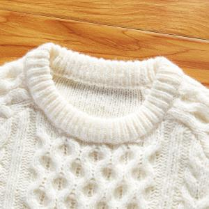 Autumn and Winter Long Sleeved Round Collar Warm Leisure Sweater -