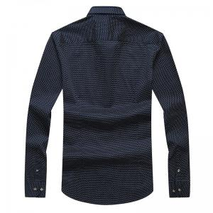 Autumn and Winter Men's Spotted Shirt Fashion and Leisure Bottoming Blouses -