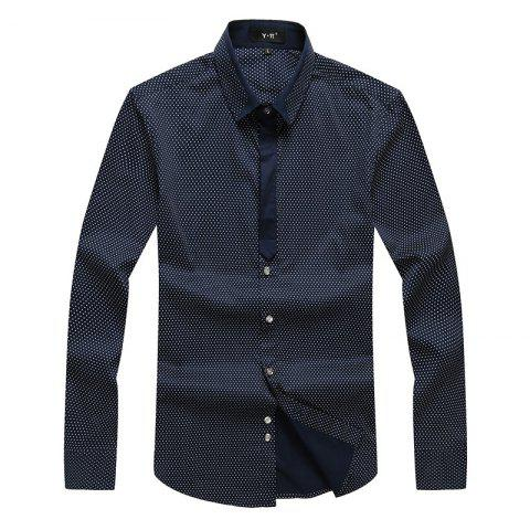 Chic Autumn and Winter Men's Spotted Shirt Fashion and Leisure Bottoming Blouses
