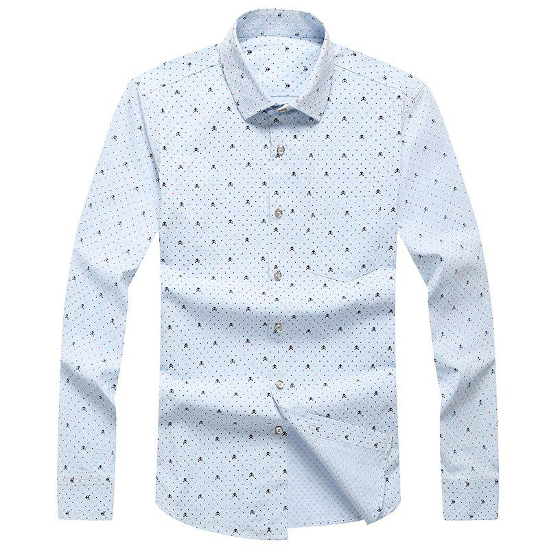 Trendy Autumn and Winter Men's Leisure Fashion Professional Dress Shirt