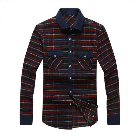 Discount Autumn and Winter Men's Casual Fashion Blouse Professional Dress Shirt