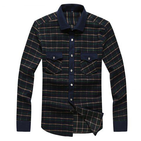 Shop Autumn and Winter Men's Casual Fashion Blouse Professional Dress Shirt