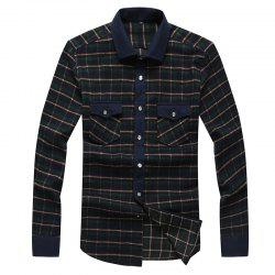 Autumn and Winter Men's Casual Fashion Blouse Professional Dress Shirt -