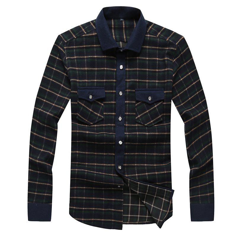 Best Autumn and Winter Men's Casual Fashion Blouse Professional Dress Shirt
