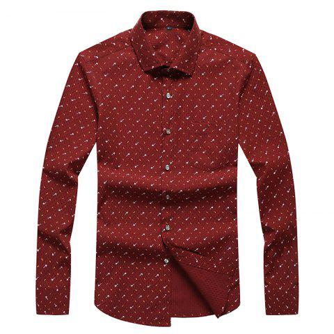 Chic Autumn and Winter Men's Spotted Casual Fashion Blouse Professional Dress Shirt