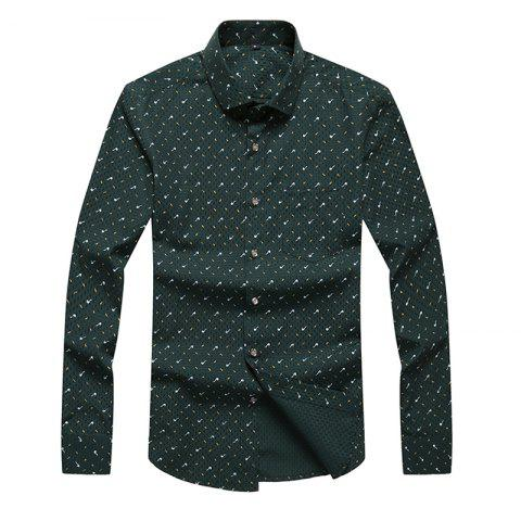 Shops Autumn and Winter Men's Spotted Casual Fashion Blouse Professional Dress Shirt