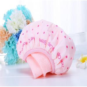 Strong Water Absorption Villi Waterproof Bath Cap -