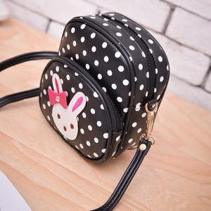 Kid's Crossbody Bag Cute Dots Lovely Rabbit Pattern Kid's Schoolbag -