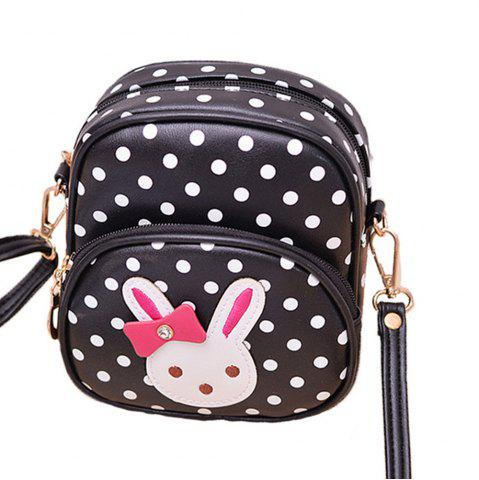 Online Kid's Crossbody Bag Cute Dots Lovely Rabbit Pattern Kid's Schoolbag