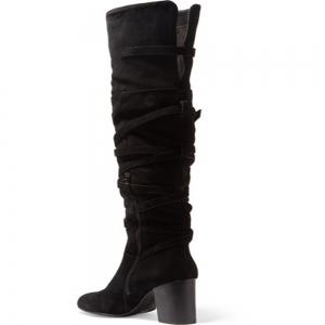 2018 New Black Velvet High Boots -